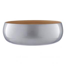 Bambusová miska v striebornej farbe Premier Housowares, ⌀30 cm