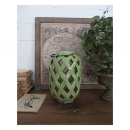 Zelený keramický lampáš Orchidea Milano, výška 28 cm