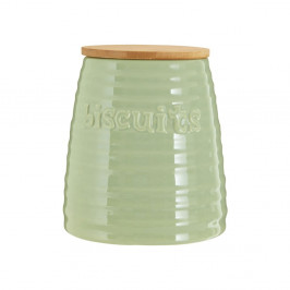 Svetlozelená dóza s bambusovým vrchnákom Premier Housewares Winnie, 1,5 l