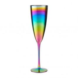 Sada 4 pohárov na šampanské s dúhovým efektom Premier Housowares Rainbow, 290 ml
