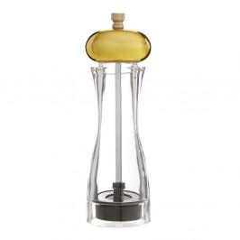 Malý mlynček na soľ či koreniny s detailom zlatej farby Premier Housewares Mill
