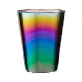Sada 4 pohárikov s duhovým efektom Premier Housowares Rainbow, 390 ml
