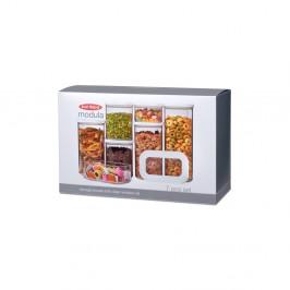 Set 7 úložných boxov na potraviny Rosti Mepal Modula Starter