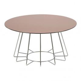 Príručný stolík s doskou z zrkadlového skla Actona Casia, ⌀ 80 cm