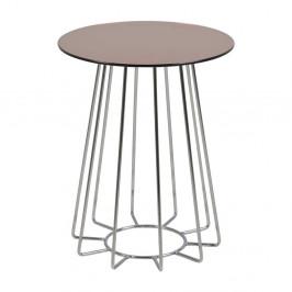 Príručný stolík s doskou z zrkadlového skla Actona Casia, ⌀ 40 cm