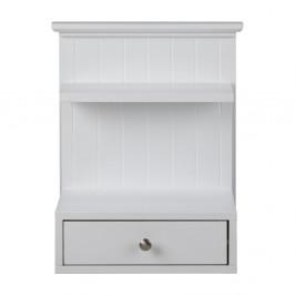 Nástenný biely nočný stolík s 1 zásuvkou Actona Linnea