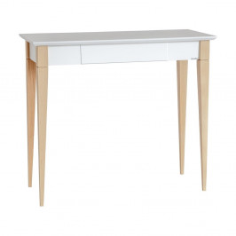 Biely pracovný stôl Ragaba Mimo, šírka 85 cm