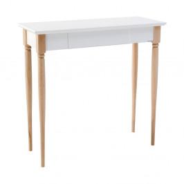 Biely pracovný stôl Ragaba Mamo, šírka 65 cm