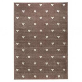 Hnedý koberec s bodkami KICOTI Beige Dots, 200 × 280 cm