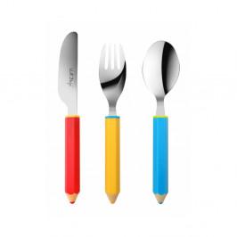 3-dielna detská príborová sada Vialli Design Pencil