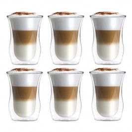 Sada 6 pohárov z dvojstenného skla Vialli Design, 300 ml