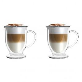 Sada 2 pohárov na Latte z dvojitého skla Vialli Design, 250 ml