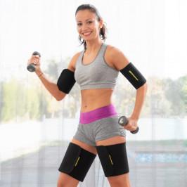 Športové návleky na paže a stehná so sauna efektom InnovaGoods (4 kusy)