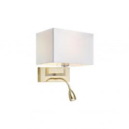 Zlaté nástenné svietidlo sa čítacím svetielkom Markslöjd Savoy