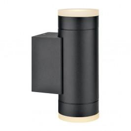 Čierne nástenné svietidlo s 2 žiarovkami Markslöjd Nova