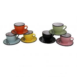 Sada 6 hrnčekov s tanierikmi Antic Line Espresso