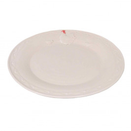 Biely keramický tanier Antic Line Hen, ⌀25cm