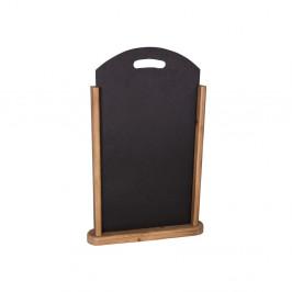 Čierna drevená popisovacia tabuľa Antic Line