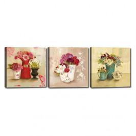 Sada 3 obrazov Tablo Center Flower Vases