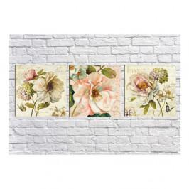 Sada 3 obrazov Tablo Center Vintage Flowers