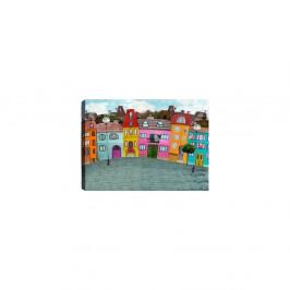 Obraz Tablo Center Fun Houses, 70 × 50 cm