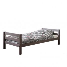Sivá detská posteľ Vipack Pino, 90×200 cm