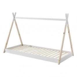 Biela detská posteľ Vipack Tipi, 90×200 cm