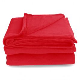 Červená deka z mikrovlákna DecoKing Mic, 200 × 220 cm