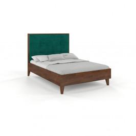 Dvojlôžková posteľ z masívneho borovicového dreva SKANDICA Frida Dark, 140 x 200 cm