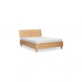 Dvojlôžková posteľ z masívneho bukového dreva SKANDICA Viveca, 140 x 200 cm