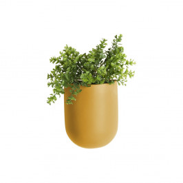 Matný okrovožltý nástenný keramický kvetináč PT LIVING Oval