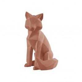 Matne hnedá soška PT LIVING Origami Fox, výška 26 cm