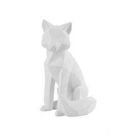 Matne biela soška PT LIVING Origami Fox, výška 26 cm