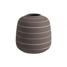 Tmavohnedá keramická váza PT LIVING Terra, ⌀ 16,5 cm