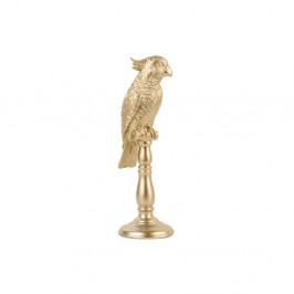Soška v zlatej farbe PT LIVING Cockatoo, výška 32 cm