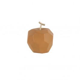 Matne karamelovohnedá betónová soška PT LIVING Origami Apple