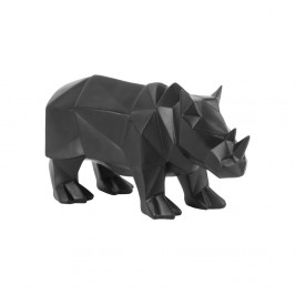 Matne čierna soška PT LIVING Origami Rhino