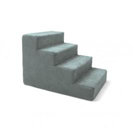 Modrosivé schody pre psov a mačky Marendog Stairs, 40 × 60 × 40 cm