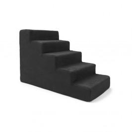 Čierne schody pre psov a mačky Marendog Stairs, 40 × 75 × 50 cm