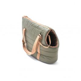 Olivovozelená cestovná taška pre psa Marendog Olive, 18 × 42 × 33 cm