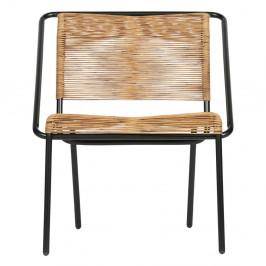 Čierna stolička vhodná aj do exteriéru BePureHome Wisp