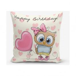 Obliečka na vaknúš s prímesou bavlny Minimalist Cushion Covers Happy Birthday, 45×45 cm