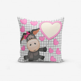 Obliečka na vankúš s prímesou bavlny Minimalist Cushion Covers Heart Radenna, 45×45 cm