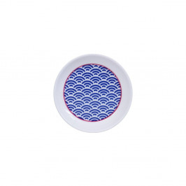 Modrý tanierik Tokyo Design Studio Star/Wave, ø 9 cm