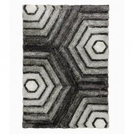 Sivý koberec Flair Rugs Hexagon Grey, 160×230 cm