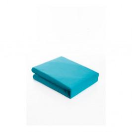 Svetlotyrkysová elastická bavlnená plachta Fitted Sheet Pareyo, 160×200 cm