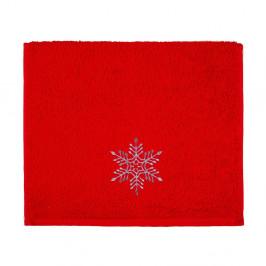 Osuška Christmas Snowflake Red, 30 x 50 cm