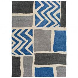 Sivo-modrý koberec vhodný aj do exteriéru Universal Kasbah Grey, 133 x 190 cm