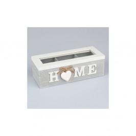 Drevená škatuľka na čaj Dakls Home With Heart