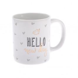 Porcelánový hrnček Dakls Hello New Day, 320 ml